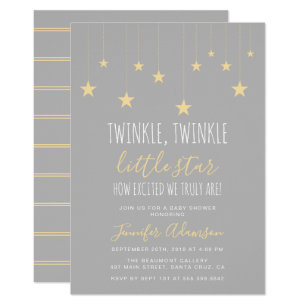 Modern baby shower invitations announcements zazzle modern twinkle little star baby shower invitation filmwisefo
