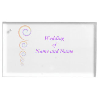 Modern Twist wedding recption table place holder Table Number Holder