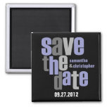 Modern Type Save The Date Magnet