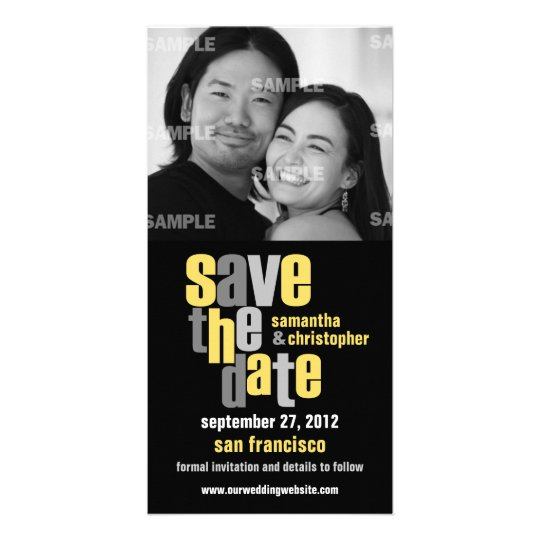 Modern Type Save The Date Photo Card