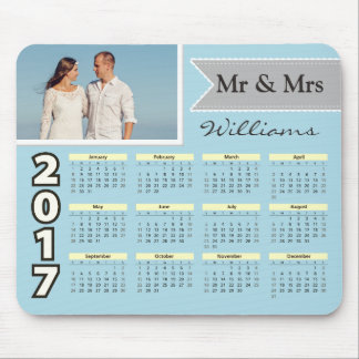 Modern Typography Couple Photo | 2017 Calendar Mouse Pad
