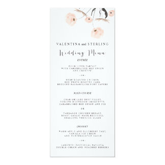 Modern Typography Dandelion Wedding Menu Card