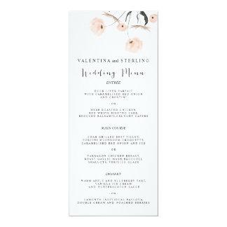 Modern Typography Dandelion Wedding Menu Card