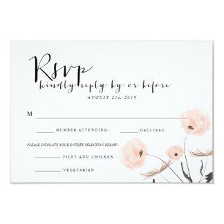 Modern Typography Dandelion Wedding RSVP Card