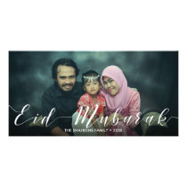 Modern Typography Eid Mubarak - Photo Card