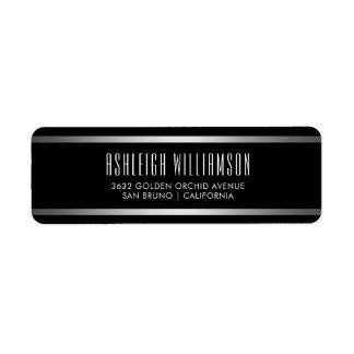 Modern Typography   Elegant Black & Silver Label