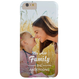 Modern Typography Family Photo Portrait Barely There iPhone 6 Plus Case