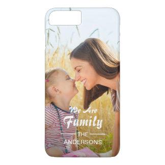 Modern Typography Family Photo Portrait iPhone 8 Plus/7 Plus Case