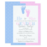 Modern Typography Gender Reveal Party! Baby Shower Card