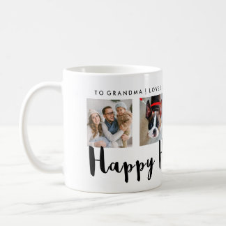 Modern Typography Happy Hanukkah Four Photo Grid Coffee Mug