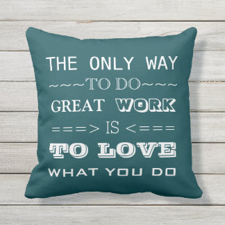 Modern Typography Inspirational Quote Outdoor Pillow
