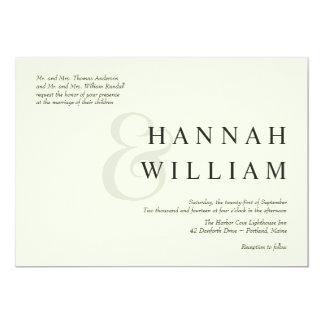 Modern Typography Ivory Wedding Invitations