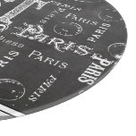 Modern Typography Paris or Bust Cutting Board