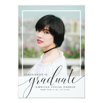 Modern Typography Photo Graduation Card