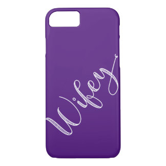 Modern Typography Pick Your Color Wifey iPhone 8/7 Case