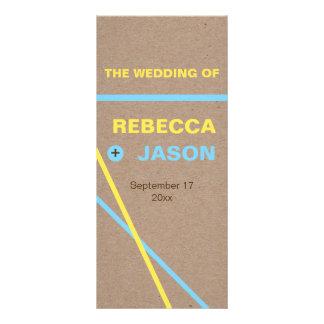 Modern typography & stripes wedding program