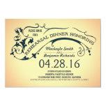 Modern typography & swirls rehearsal dinner 5x7 paper invitation card