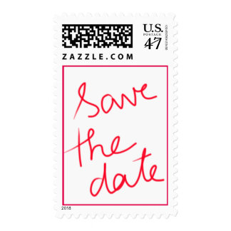 Modern Typography Wedding Save The Date Stamp