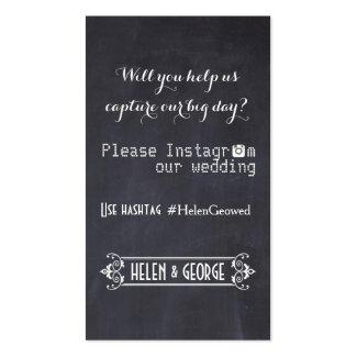 Modern typography with Instagram hashtag wedding