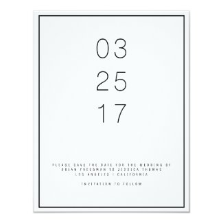 Modern Unica Save the Date Card