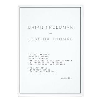 Modern Unica Wedding Invitation