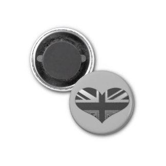 Modern Union Jack Flag Heart Magnet