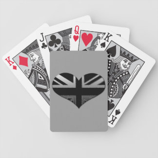 Modern Union Jack Heart Flag Card Decks