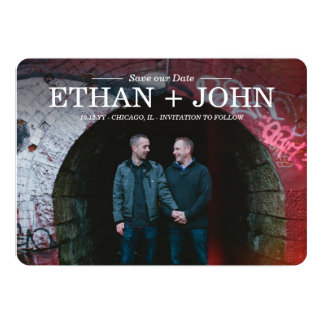 Modern Union Save the Date Card