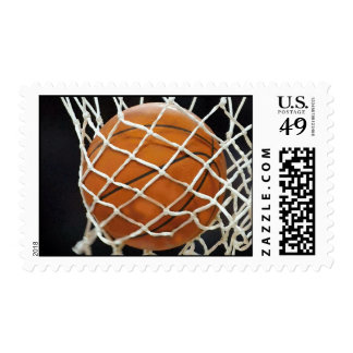 Modern Unique Basketball Postage Stamp