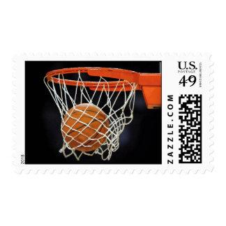 Modern Unique Basketball Stamp