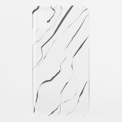 Modern Unique Black White Marble Pattern iPhone XR Case