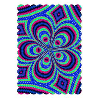 Modern unique colorful art invitation