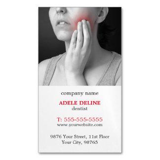 Modern Unique Dentist Magnetic Business Card