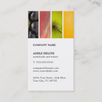 Modern Unique Fruits Nutritionist Trainer Business Card