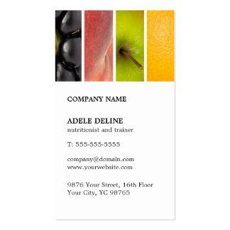 Modern Unique Fruits Nutritionist Trainer Business Card