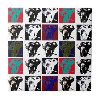 Modern Unique Pop Art Elephants Ceramic Tile