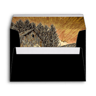 Modern  unique  trendy  fashion abstract art envelope