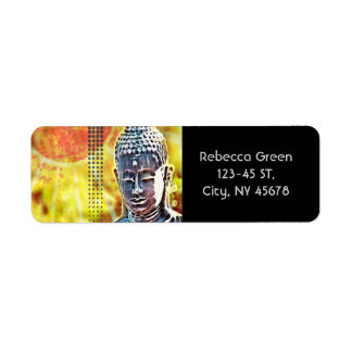 Modern  unique  trendy  fashion abstract art label