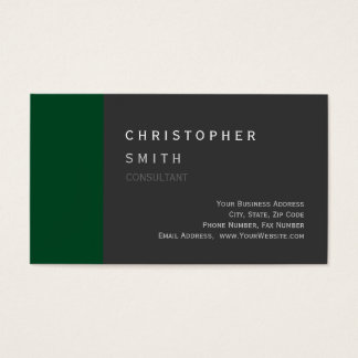 Modern Up Forest Green Gray Standard Business Card