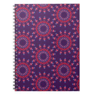 Modern Urban Hearts Violet Pattern Spiral Note Book