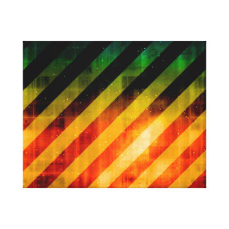 Modern Urban Vivid Striped Warning Canvas Print