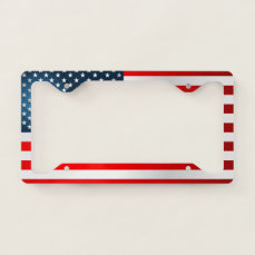 Modern US Flag License Plate Frame