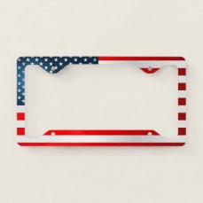 Modern US Flag License Plate Frame