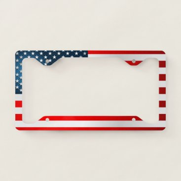 USA Themed Modern US Flag License Plate Frame
