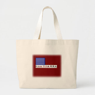 Modern USA Flag Graphic Memorial Day Canvas Bags