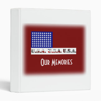 Modern USA Flag Graphic Memorial Day Binders