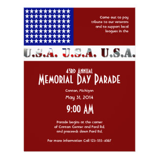 Modern USA Flag Graphic Memorial Day Flyer