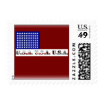 Modern USA Flag Graphic Memorial Day Postage