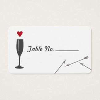 Modern Valentine Wedding Tablecard Business Card