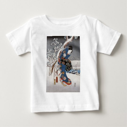 Modern Version of the Tale of Genji in Snow Scene Baby T-Shirt